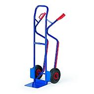 Steekwagen voor trappen, groot laadvlak, volrubberen banden