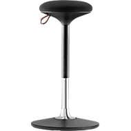 Steh-/Sitzhocker S 300, höhenverstellbar, mehrdimensionales Bewegungs-Gelenk, Sitzhöhe  590-850 mm, schwarz