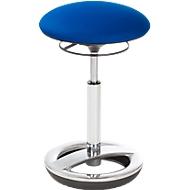 Stehhilfe Sitness HIGH BOB, ergonomisches Sitzen, Sitzhöhe 490 bis 700 mm, blau, Gestell verchromt