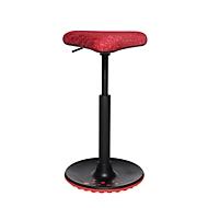 Stehhilfe Topstar Sitness H1, höhenverstellbar, um 360 ° drehbar, dynamisches Sitzen & Stehen, rot/rot