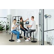 Stehhilfe Topstar Sitness H1, höhenverstellbar, um 360 ° drehbar, dynamisches Sitzen & Stehen, schwarz/schwarz