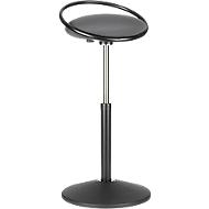 Stehhocker ROVO SOLO mit Ring, 3D-Gestrick, schwarz/grau