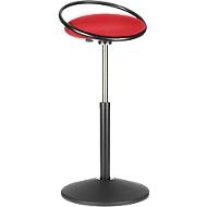 Stehhocker ROVO SOLO mit Ring, 3D-Gestrick, schwarz/rot