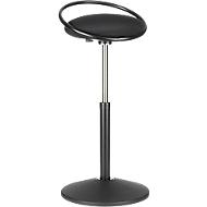 Stehhocker ROVO SOLO mit Ring, 3D-Gestrick, schwarz/schwarz