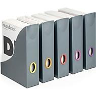 Stehsammler Durable VARICOLOR®, DIN A4, Grifflöcher in verschiedenen Farben, anthrazit, 5 Stück