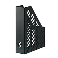 Stehsammler KARMA, DIN A4/C4, 100% Recyclingmaterial, B 76 x T 246 x H 315 mm, H vorne: 148 mm, schwarz