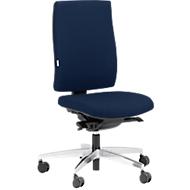 Steifensand Bürostuhl CETO CT2450, Synchronmechanik, ohne Armlehnen, Membransitz, ohne Nackenstütze, dunkelblau