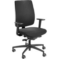 Steifensand bureaustoel Ceto CT40, synchroonmechanisme, met armleuningen & lordosesteun, vlakke zitting