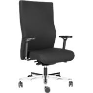 Steifensand bureaustoel SENO XXL, tot 200 kg, synchroonmechanisme, met armleuningen, extra hoge rugleuning