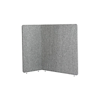 Stellwand Akustik to go 3000 silent.line L-Form, Akustik- & Sichtschutz, B 1800 x H 1500 mm