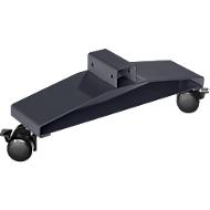 Stelpoten met wielen voor scheidingswand Akustika, ideaal voor Akustika scheidingswanden, grafiet