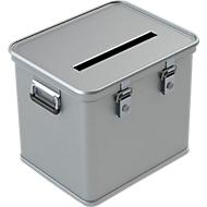 Stembus A 1569, voor stembiljetten DIN A4, aluminium, 50 liter inhoud