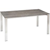STERN Tisch, Gestell Edelstahl, Tischplatte Silverstar 2.0 Tundra grau