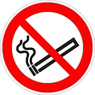 Sticker Roken verboden, Ø 100 mm, 5 stuks