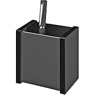 Stifteköcher WEDO Black Office, schwarz mattiert/glänzend