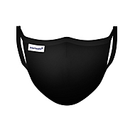 Stoffmaske Deluxe Lady, Schwarz, Auswahl Werbeanbringung optional