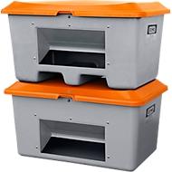 Streugutbehälter unterfahrbar, mit Entnahmeöffnung, 200 l, L 890 x B 600 x H 690 mm