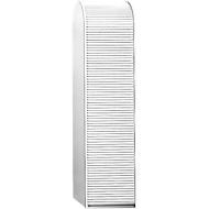 Structure d'armoire haute, sans rideau, l. 500 x P 500 x H 2020 mm, blanc