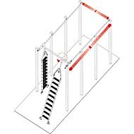 Stufen-Regalleiter, für Doppelregal, drehbar, 7 Stufen