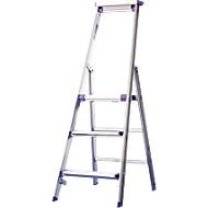 Stufenstehleiter Lila-Serie, 3 Stufen