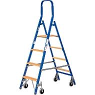 Stufenstehleiter Multicolor, doppelseitig besteigbar, 4 Stufen