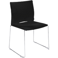 Stuhl Ariz 570 V, gepolstert/gepolstert, schwarz