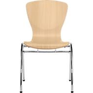 Stuhl Bingo, ohne Sitzkissen, ohne Armlehnen, Buche