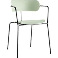 Stuhl BISTRO, Stahlrohr/PP, versch. Farben, B 535 x T 545 x H 760 mm, 4 Stück, grün