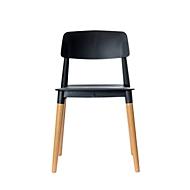 Stuhl Paperflow Glamwood, Massivholz, PP-Sitz, schwarz, 2er-Set