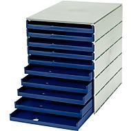 styro® ladebox Stryroval, 10 open laden, C4, polystyreen, blauw