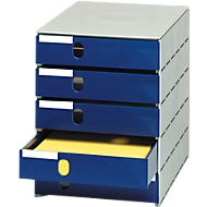 styro® ladebox Stryroval, 5 gesloten laden, C4, polystyreen, blauw
