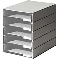 styro® ladebox Stryroval, 5 open laden, C4, polystyreen, grijs