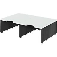styro® sorteerstation styrodoc Jumbo, C4, 1 etage/2 rijen/2 vakken, zwart