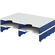 styro® Sortierstation styrodoc Standard, DIN C4, Anbaueinheit, grau/blau