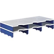 styro® Sortierstation styrodoc Standard, DIN C4, Polysytrol, Anbaueinheit, grau/blau