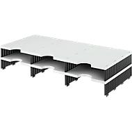 styro® Sortierstation styrodoc Standard, DIN C4, Polysytrol, Anbaueinheit, grau/schwarz