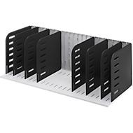 Styrorac sorteersysteem, m. 8 tussensch., zwart