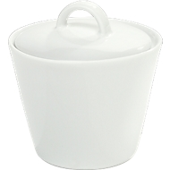 Suikerpot Solea, met deksel, effen, wit, porselein