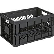 Sunware Klappbox Heavy Duty, Inhalt 45 Liter, Traglast 30 kg, schwarz