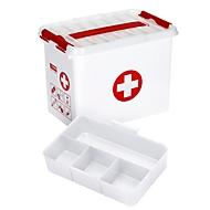 Sunware Q-line EHBO doos met inzet met vakverdeling, 9 liter