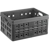 Sunware Square Klappbox, Inhalt 32 Liter, mit Durchfassgriff, anthrazit