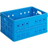 Sunware Square Klappbox, Inhalt 32 Liter, mit Durchfassgriff, blau
