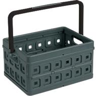Sunware vouwkrat Square, L 435 x B 310 x H 213mm, 24 liter, met handgreep, antraciet/zwart