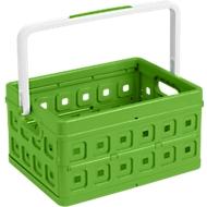 Sunware vouwkrat Square, L 435 x B 310 x H 213mm, 24 liter, met handgreep, groen/wit