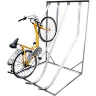 Support à vélos SW4, galvanisé, L 1400 mm, accès d'un côté, 4 emplacements