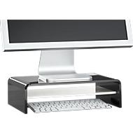 Support Acryl en forme de U avec tablette, 350 x 230 x 100 mm, noir/blanc