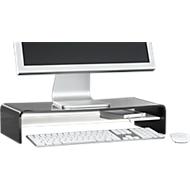 Support Acryl en forme de U avec tablette, 500 x 230 x 100 mm, noir/blanc