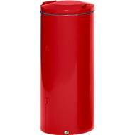 Support sac-poubelle en métal, 120 litres, rouge RAL 3000