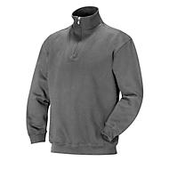 Sweatshirt 1/2 zip grau 3XL