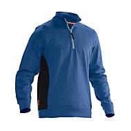 Sweatshirt 1/2 Zip Jobman 5401 PRACTICAL, mit UV-Schutz, blau I schwarz, M